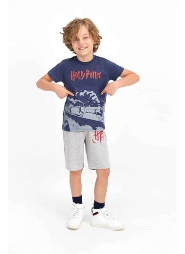 Harry Potter Harry Potter Lisanslı Asfalt Gri Erkek Çocuk Bermuda Takım Gri